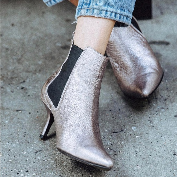 Anine Bing Stevie Metallic Ankle Boots